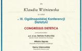 Certyfikat-III-Oglnopolska-Konferencja-Dietetyki-Cogresus-Dietetica_Klaudia-Winiewska