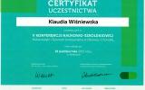 Certfikat Nutraceutyki i ywno Funkcjonalna w Zdrowiu i Chorobie_Klaudia Winiewska