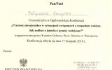 Certyfikat Pomoc Emocjonalna w sytuacjach Zwizanych z Rozpadem Rodziny_Jak Zadba o Dziecko i Pomc Rodzicom_Magorzata Kaczyska