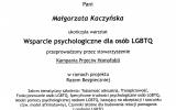 Certyfikat Wsparcie psychologiczne dla osb LGBTQ_Magorzata Jolanta Kaczyska