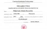Dyplom SWPS_Magorzata Kaczyska