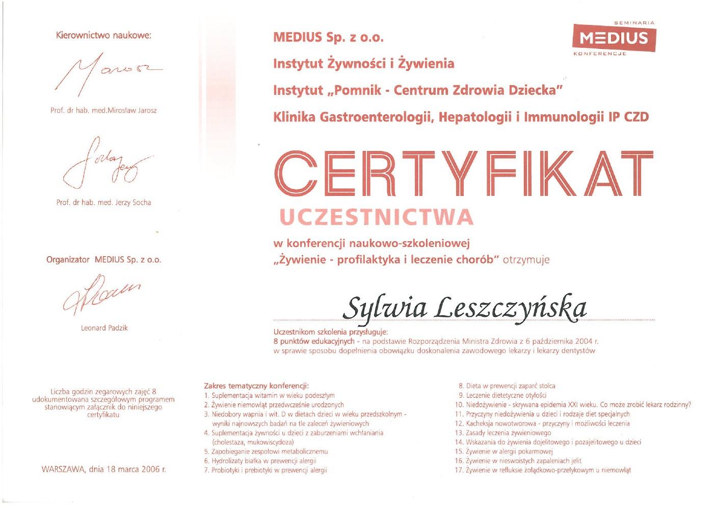 Sylwia Leszczynska Instytut Sanvita